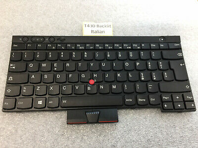 5 available  LENOVO X230 T430 T530 W530 BACKLIT KEYBOARD Italian Layout 04X1257