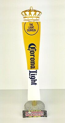 """Corona Light Cerveza Crown Logo Beer Tap Handle 13"""" Tall - Excellent CondItion!!"""