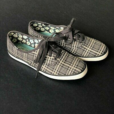 5ba2b045a12ec Keds Women's Champion Hanky Plaid Fashion Sneaker Drizzle Gray Twill Size  6.5