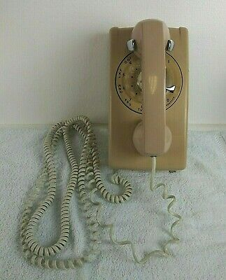 Vintage Rotary Dial Wall Phone Electric Bell System A/B 554 5-64