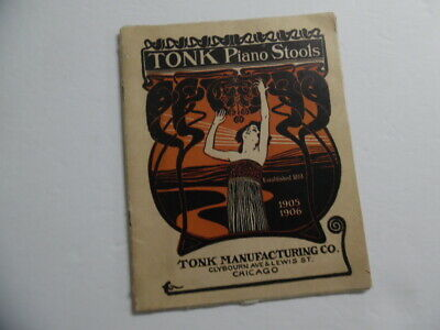 1905 Tonk Piano Stool Furniture Catalog Benches Scarfs Covers Chicago Antique