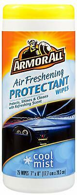 Armor All 78509 Air Freshening Protectant Wipes, Cool Mist Scent (25 Count)
