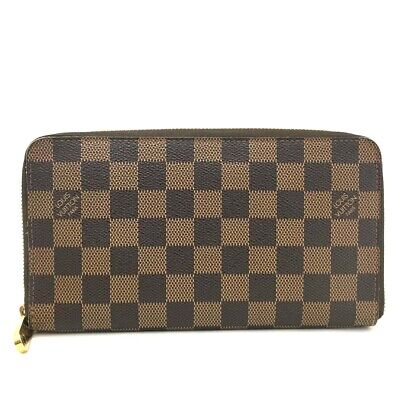 d3c616b25cd0b Authentic Louis Vuitton Damier Zippy Zip Around Organizer Long Wallet  e122
