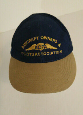 Aircraft Owners & Pilots Association Baseball Cap AOPA Aviation Wings Hat