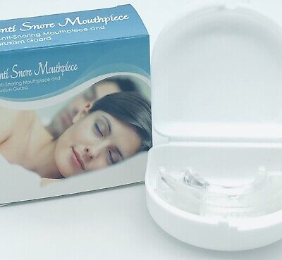 anti snore mouthpiece and bruxism guard clear with case NEW f1