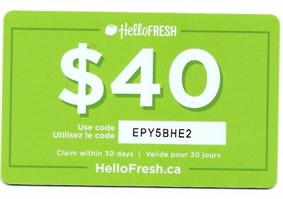 1 collectible HELLOFRESH gift card Canada Germany USA meal-kit