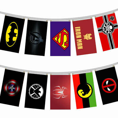 Marvel Series Theme Banner Hanging Flag Banner Home Wall Party Decor 90x150cm AU