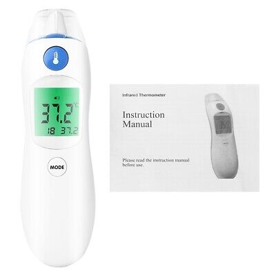 Baby Digital Thermometer LCD Screen Infrared Measurement Body Ear Forehead