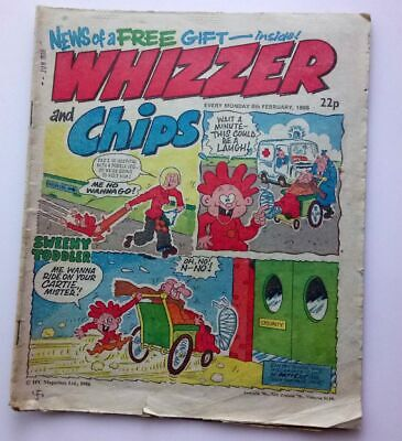 Whizzer and Chips 8 February 1986 Childrens Kids Humour Humor Comic UK *