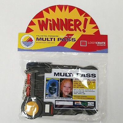 New Leeloo Dallas Fifth Element Multi Pass ID Badge Prop Replica Sealed Package
