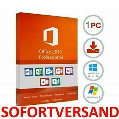 Microsoft Office 2016 Professional Plus MS Office 2016 Pro Plus Key Deutsch Neu