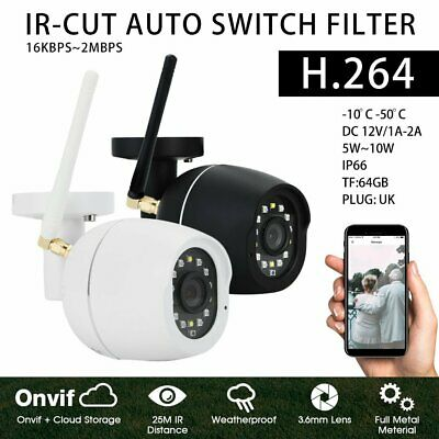 Wireless Outdoor WiFi IP Camera 1080P HD IR Security Webcam 2MP Audio CCTV