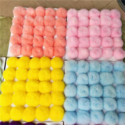 6cm Soft Real Rabbit Rex Fur Ball Pompom Bag Shoes Hat DIY Pendent Accessory