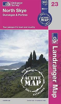 North Skye, Dunvegan and Portree (OS Landranger Map Active) by Ordnance Survey