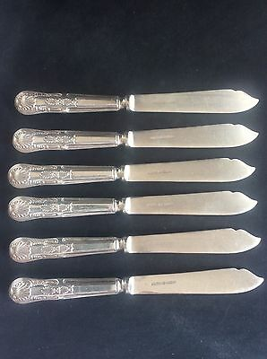 Vintage Set 6 Good Quality Mappin & Webb Silver Plate Plated Knives Cutlery