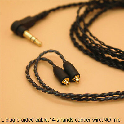 3.5mm Headphone Earphone DIY Braided Cable MMCX Plug Updated Replacement WiRKUS