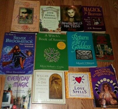 12 Wicca~Wiccan~Witchcraft~Witch Spells Books Lot GUC
