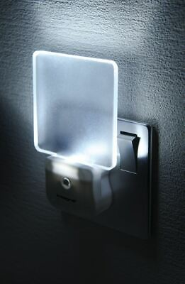 Stylish LED Night Light with Auto On-Off Sensor for UK Mains Outlets.