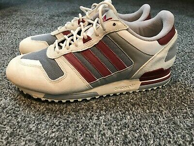 newest 345ef 3a021 Adidas zx 750 Size 9 Excellent Condition - Off White   Burgundy