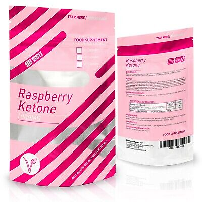 Simply Simple Raspberry Ketone 1000mg Appetite Suppressant Diet Weight Loss 30ct