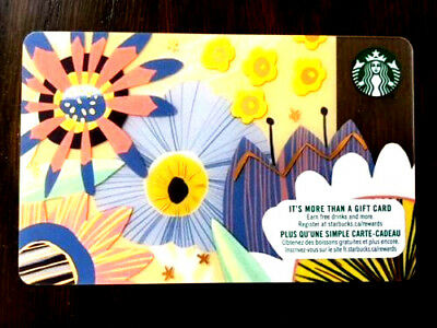 New Starbucks Gift Card Spring Coming 2017 Bilingual Rechargeable !