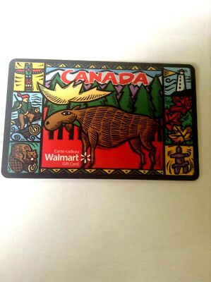 WALMART Limited Edition MOOSE Gift Card rechargeable New No Value BILINGUAL