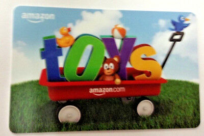 AMAZON TOYS gift card TEDDY BEAR New No Value UNSCRATCHED