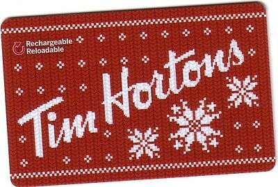 TIM HORTON CANADA Limited Edition Gift Card  New No Value (ENGLISH/FRENCH)