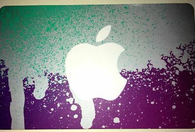 Apple iTunes PURPLE GIFT CARD FROM CANADA BILINGUAL NO VALUE RECHARGEABLE !