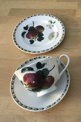 1 trio Queens Hookers Fruit teacup Saucer tea plate Royal Horticultural Society