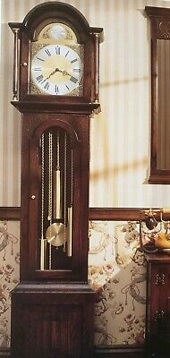 Grandfather Jaycee Tudor 0599 Oak Old Charm Grandfather Clock Furniture