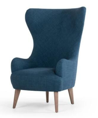 MADE.Com Bodil Chair, Thames Blue FREE🚚 SHIPPING