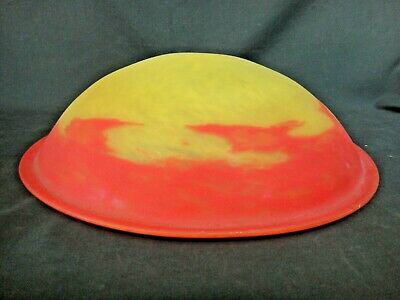 Vintage Art Glass Bowl Ceiling Light Fixture Shade - End of Day - Chandelier