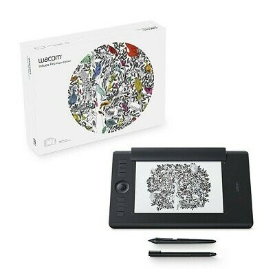 Wacom Intuos Pro Medium Paper Creative Pen Tablet, Black - PTH660P