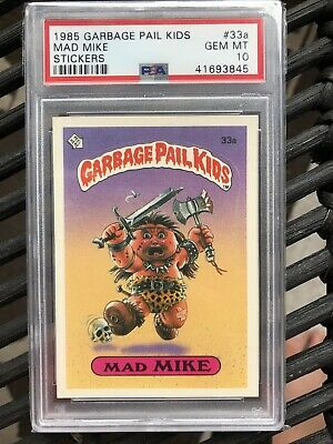 Mad Mike Garbage Pail Kids Series 1 #33a PSA 10 new hologram 🔥