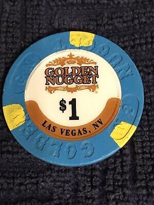 Casino Chips $1 Golden Nugget Las Vegas Nevada  Poker Chip Obsolete Collectible