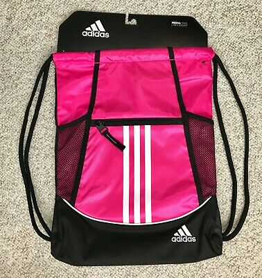 ed3b24d808ec6 new ADIDAS SPORT DRAWSTRING BACKPACK hot pink alliance ii sackpack womens  girls