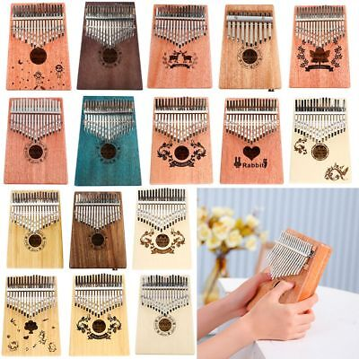 17 Key Kalimba Thumb Piano Finger Mbira Education Musical Instrument Toy Gift AU