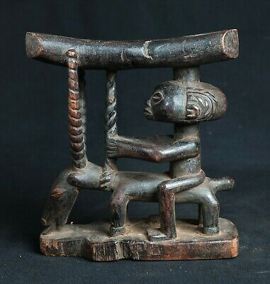 Luba Head Rest, D.R. Congo, Central African Tribal Arts
