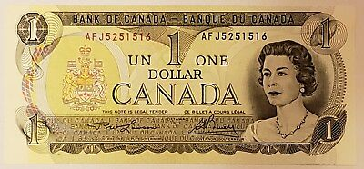 1973 Bank of Canada $1 One Dollar Bill Uncirculated  UNC