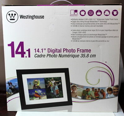 "Westinghouse Digital Photo Frame 14.1"" New In Box C4C/HW22"