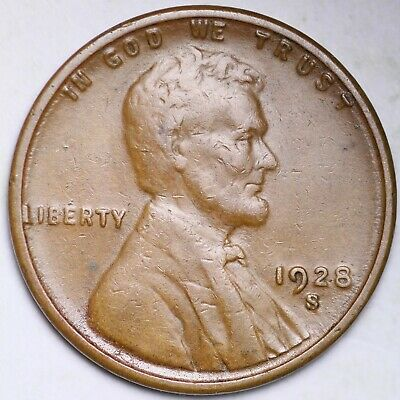 1928 S Lincoln Wheat Penny 15/% off 5+