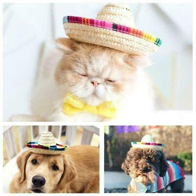 Pet Dogs Sombrero Hat Sun Hat Party Hats Dogs and Cats Funny Dog Costume T1D5