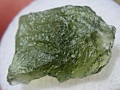 9.644 carats MOLDAVITE from Czech Republic Meteorite impact - about 18mm long