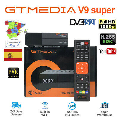 Original gtmedia v9 super DVB-S2 Satellite TV Receiver Built-in Wifi Full HD