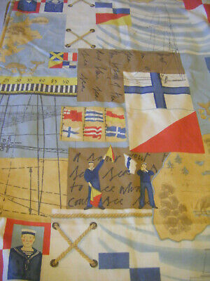 Toddler Bed Duvet Cover And Pillow Case - SAILOR / NAUTICAL