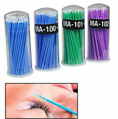 Mini Micro Brush Disposable Microbrush Applicator Eyelash Extensions Beauty Tool