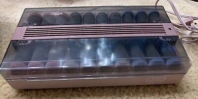 Vidal Sassoon Hot Curlers 20 Velvet Rollers & Clips VS370 Hairsetter ~Free Ship