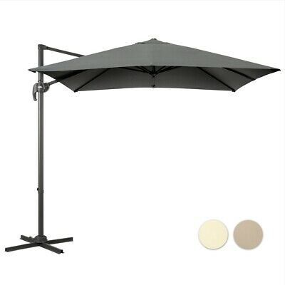 Square Cantilever Parasol Hanging Banana Patio Umbrella Adustable 2.5m Canopy