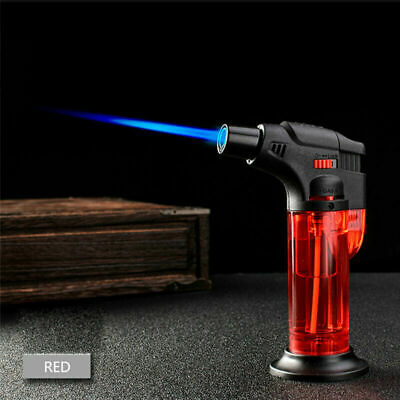 Windproof Refillable Lighter Butane Inflatable Torch Fuel Flame Outdoors Camping